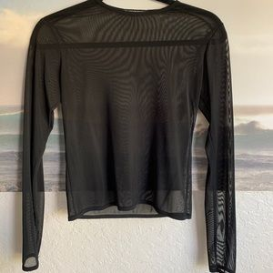 Brandy Melville sheer long sleeve top